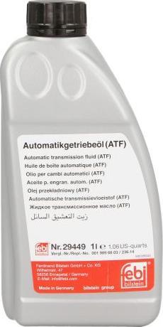 Febi Bilstein 29449 - Масло автоматической коробки передач autodif.ru