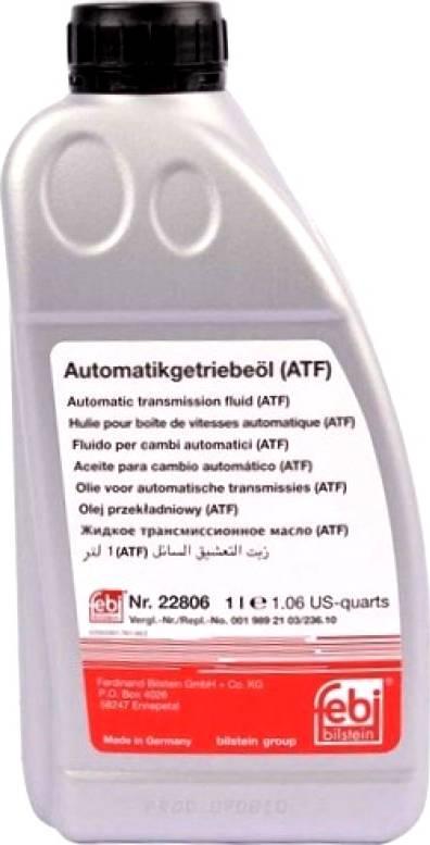 Febi Bilstein 22806 - Масло рулевого механизма с усилителем autodif.ru