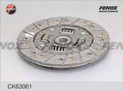 Fenox CK63061 - Комплект сцепления autodif.ru