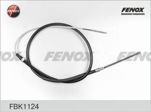 Fenox FBK1124 - Трос, стояночная тормозная система autodif.ru