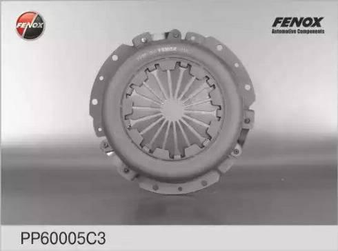 Fenox PP60005C3 - Нажимной диск сцепления autodif.ru