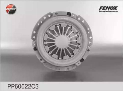 Fenox PP60022C3 - Нажимной диск сцепления autodif.ru