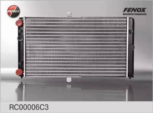 Fenox RC00006C3 - Радиатор, охлаждение двигателя autodif.ru
