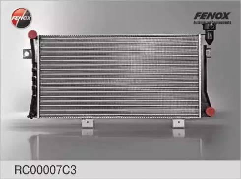 Fenox RC00007C3 - Радиатор, охлаждение двигателя autodif.ru