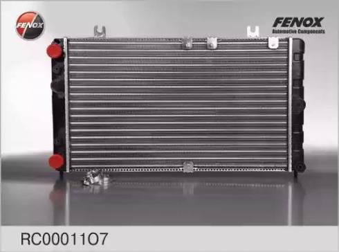 Fenox RC00011O7 - Радиатор, охлаждение двигателя autodif.ru