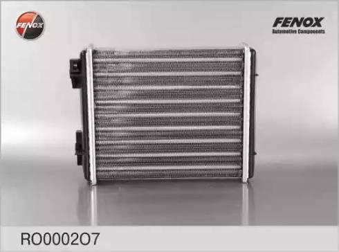 Fenox RO0002O7 - Теплообменник, отопление салона autodif.ru
