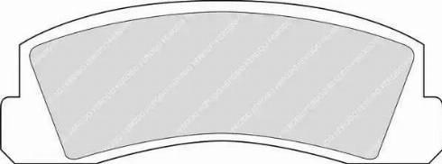 Ferodo FDB195 - Комплект тормозных колодок, дисковый тормоз autodif.ru