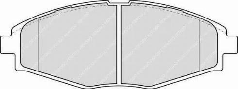 Ferodo FDB1337 - Комплект тормозных колодок, дисковый тормоз autodif.ru