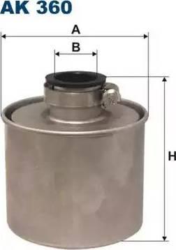 Filtron AK 360 - Воздушный фильтр, компрессор - подсос воздуха autodif.ru