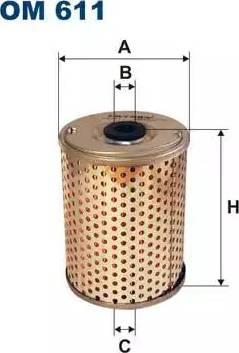 Filtron OM 611 - Фильтр, Гидравлическая система привода рабочего оборудования autodif.ru