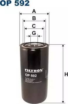 Filtron OP592 - Фильтр, Гидравлическая система привода рабочего оборудования autodif.ru
