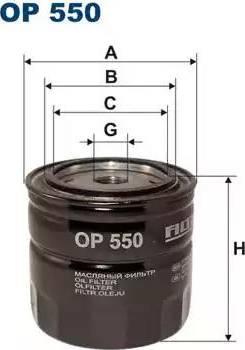 Filtron OP550 - Фильтр, Гидравлическая система привода рабочего оборудования autodif.ru
