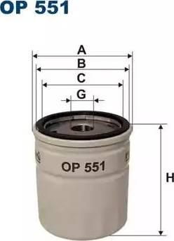 Filtron OP551 - Масляный фильтр autodif.ru