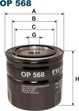 Filtron OP 568 - Фильтр, Гидравлическая система привода рабочего оборудования autodif.ru