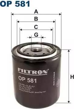 Filtron OP 581 - Фильтр, Гидравлическая система привода рабочего оборудования autodif.ru