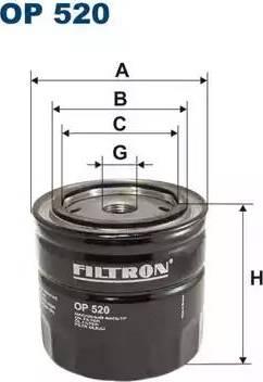 Filtron OP520 - Масляный фильтр autodif.ru