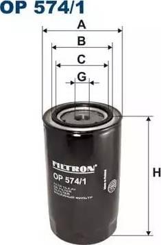Filtron OP 574/1 - Фильтр, Гидравлическая система привода рабочего оборудования autodif.ru