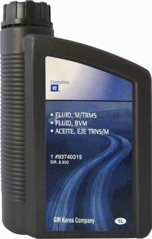 General Motors 93740315 - Масло, вспомогательный привод autodif.ru