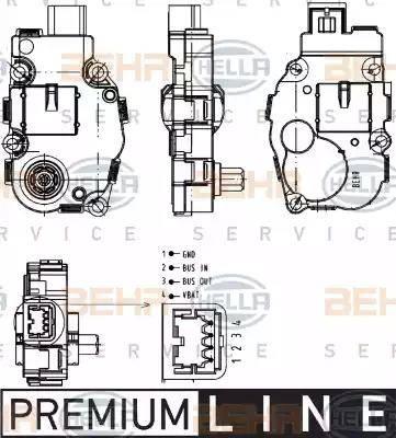 HELLA 6NW351344041 - Регулировочный элемент, смесительный клапан autodif.ru