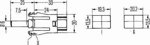 HELLA 6ZF 004 229-011 - Выключатель, контакт двери autodif.ru