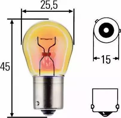 HELLA 8GA006841121 - Лампа накаливания, фонарь указателя поворота autodif.ru