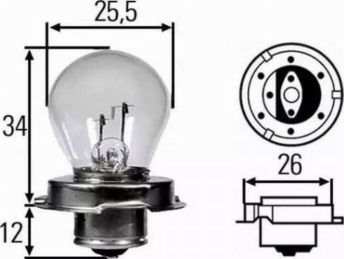 HELLA 8GA008899121 - Лампа накаливания, фара дальнего света autodif.ru