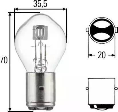 HELLA 8GD002084131 - Лампа накаливания, основная фара autodif.ru