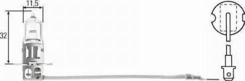 HELLA 8GH002090251 - Лампа накаливания, противотуманная фара autodif.ru