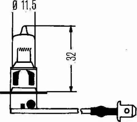 HELLA 8GH 002 090-271 - Лампа накаливания, противотуманная фара autodif.ru