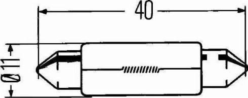 HELLA 8GM002091241 - Лампа накаливания, фонарь сигнала тормоза/задний габаритный autodif.ru