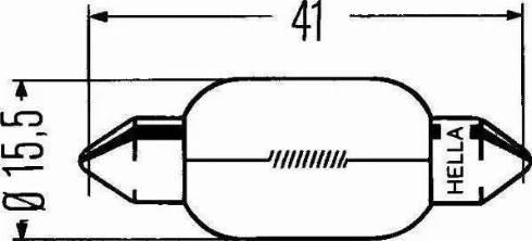 HELLA 8GM002091121 - Лампа накаливания, фонарь сигнала тормоза/задний габаритный autodif.ru
