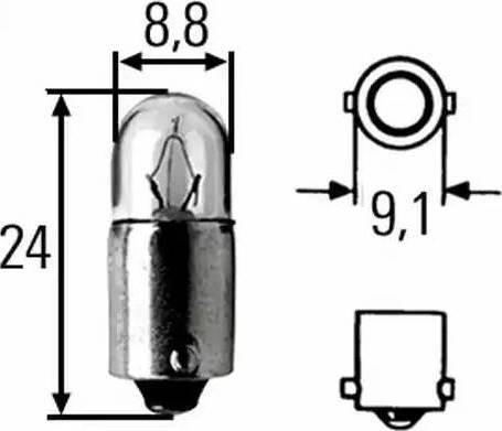 HELLA 8GP002068241 - Лампа накаливания, стояночные огни / габаритные фонари autodif.ru