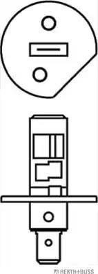 Herth+Buss Elparts 89901216 - Лампа накаливания, противотуманная фара autodif.ru