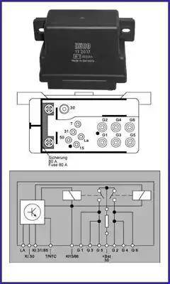Hitachi 132037 - Реле, система накаливания autodif.ru