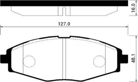 HSB Gold HP2002 - Комплект тормозных колодок, дисковый тормоз autodif.ru