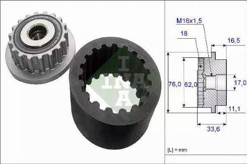 INA 535 0186 10 - Комплект эластичной муфты сцепления autodif.ru