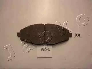 Japko 50W04 - Комплект тормозных колодок, дисковый тормоз autodif.ru