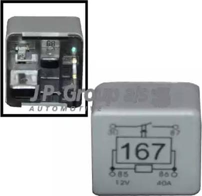 JP Group 1199206900 - Реле, топливный насос autodif.ru