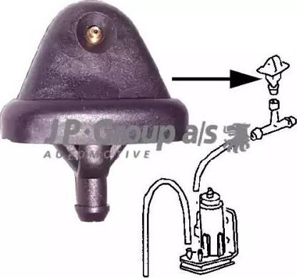 JP Group 1198700100 - Распылитель воды для чистки, система очистки окон autodif.ru