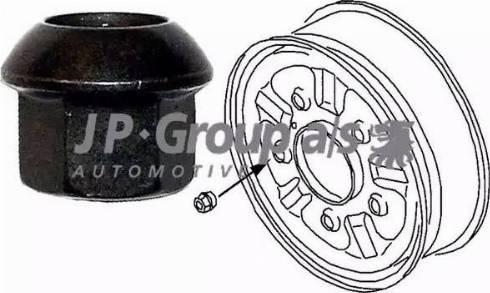 JP Group 1160400600 - Гайка крепления колеса autodif.ru