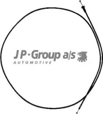 JP Group 1170701100 - Тросик замка капота autodif.ru