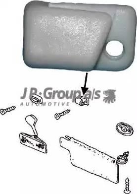 JP Group 8189801686 - Кронштейн, Солнцезащитный козырек autodif.ru