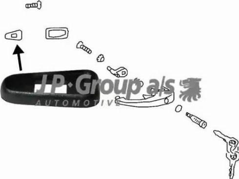 JP Group 8187150302 - Ручка двери autodif.ru