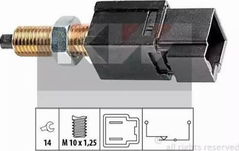 KW 510 052 - Выключатель, привод сцепления (Tempomat) autodif.ru