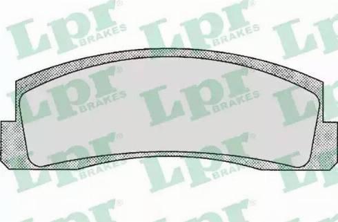 LPR 05P179 - Комплект тормозных колодок, дисковый тормоз autodif.ru