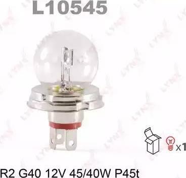 LYNXauto L10545 - Лампа накаливания, основная фара autodif.ru