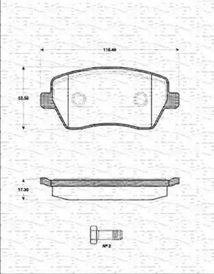 Intelli D204E - Комплект тормозных колодок, дисковый тормоз autodif.ru
