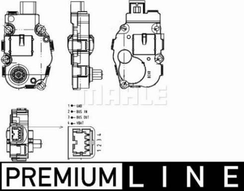 Mahle Original AA18000P - Регулировочный элемент, смесительный клапан autodif.ru
