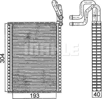 Mahle Original AE116000S - Испаритель, кондиционер autodif.ru