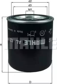 Mahle Original AL12 - Патрон осушителя воздуха, пневматическая система autodif.ru